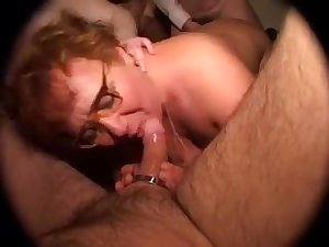 Fat mature abused in a rough gangbang